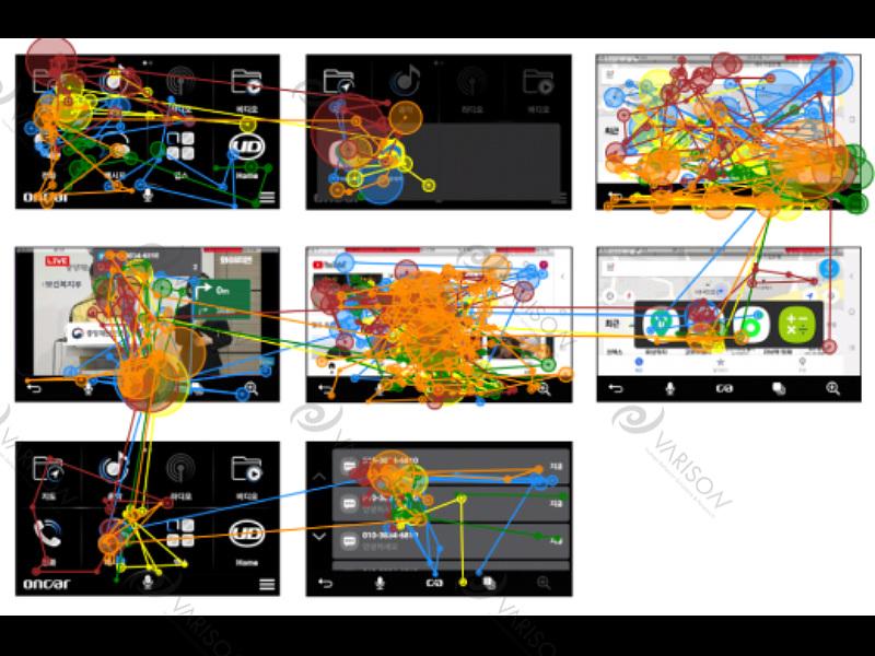 oncar 3.0 어플리케이션 아이트래킹 사용성평가